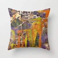 chaos Throw Pillows featuring Chaos by BruceStanfieldArtistPainter