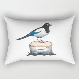Curious Jay Rectangular Pillow