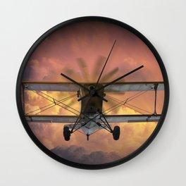 Loud Planes Fly Low Wall Clock