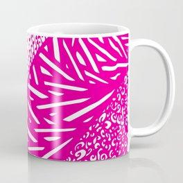 Free Hand Fuchsia Pop Doodle Design Coffee Mug