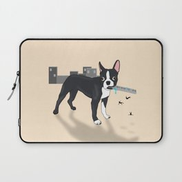 Attack of the Colossal Boston Terrier!!! Laptop Sleeve