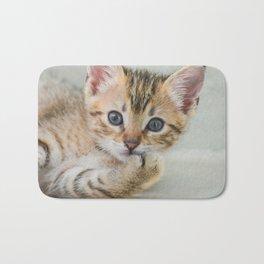 Smirking kitten Bath Mat