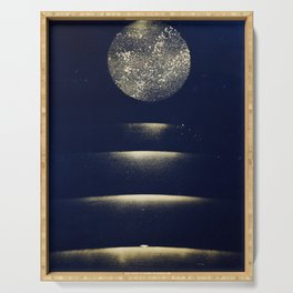 Staircase to the Moon (Gold) Serving Tray