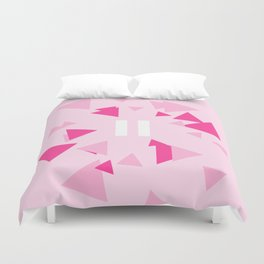 Opposite III Pause Pink Duvet Cover
