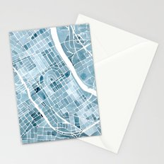 Map Nashville Tennessee Blueprint City Map Stationery Cards