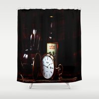 whisky Shower Curtains featuring Time by Doug McRae