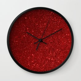 Garnet January Aquarius Birthstone Shimmering Glitter Wall Clock