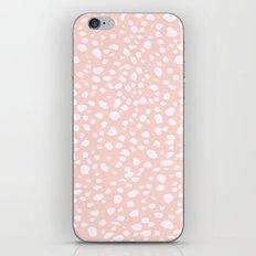 Pink Coral Polka Dots iPhone Skin