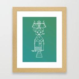 Real Spaceship Framed Art Print
