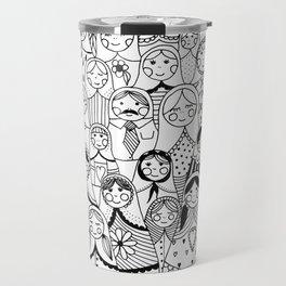 Matrioshka doodle Travel Mug