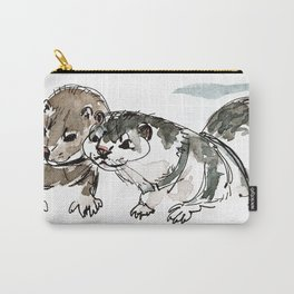 Two American minks Carry-All Pouch