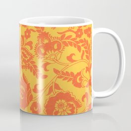 Dual tone abstract floral pattern indian Coffee Mug