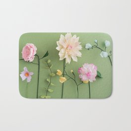 Crepe paper flowers Bath Mat