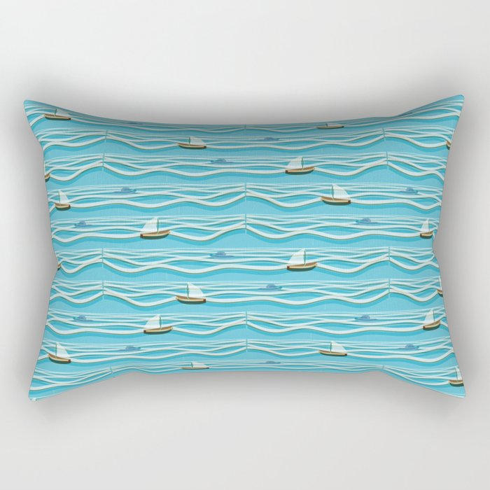 Sailing pattern 1c Rectangular Pillow