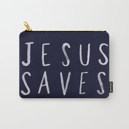 Jesus Saves x Navy Carry-All Pouch