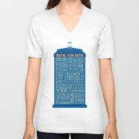 luke hemmings V-neck T-shirts featuring Doctor Who  by Luke Eckstein