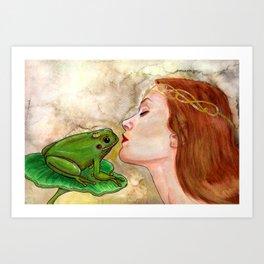 Der Froschkönig Art Print