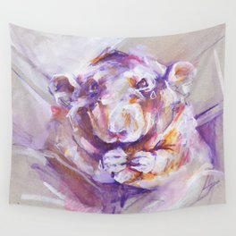 Purple Rat Wall Tapestry