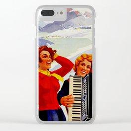 Vintage Vallee de Joux Switzerland Travel Clear iPhone Case