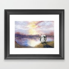 Companion Sheep Framed Art Print