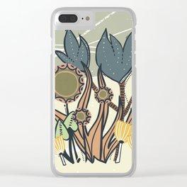 Vintage Retro Garden Clear iPhone Case