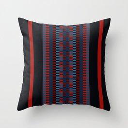 Checkered Ethnic Mosaic Pattern Throw Pillow