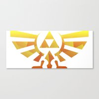 triforce Canvas Prints featuring Triforce by Wicttor