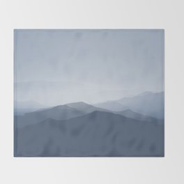 hazy morning blues Throw Blanket