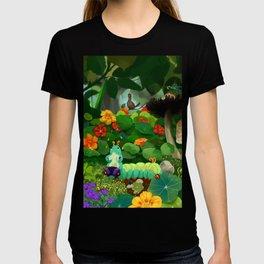 Clown Caterpillar Playing a Concertina T-shirt