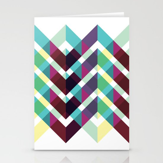 Zig Zag Pattern Stationery Cards