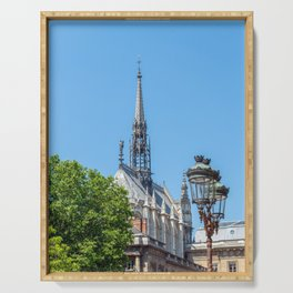 Spire of Sainte-Chapelle (Holy Chapel) in Paris Serving Tray