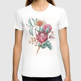 King protea flowers watercolor illustration T-shirt
