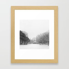 Winter in the park Framed Art Print