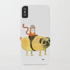 Commander Creamsicle iPhone X Slim Case