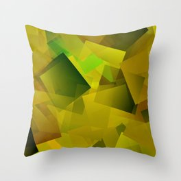 Yellow-blossomed field ... Throw Pillow