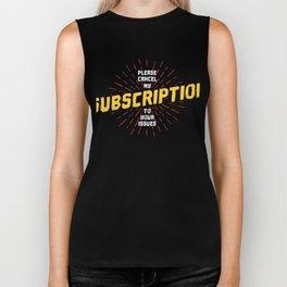 Cancel Subscription Biker Tank