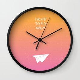 I WANT TO FLY AWAY Wall Clock