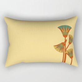 Ancient Egyptian lotus - Colorful Rectangular Pillow