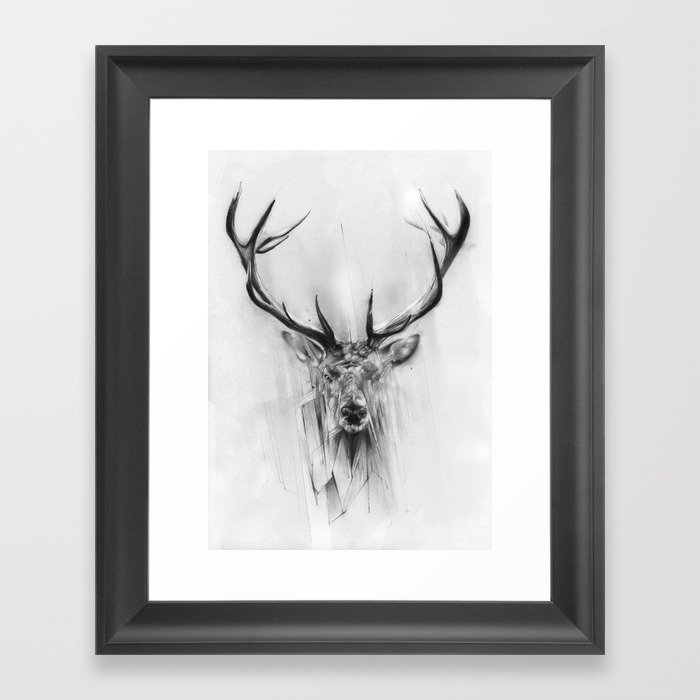 Red Deer Framed Art Print