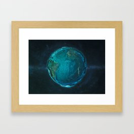 Globe: Relief Atlantic Framed Art Print