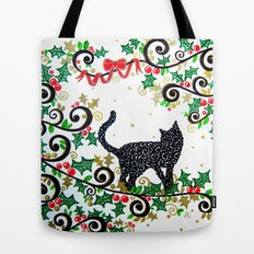 Christmas Cat Tote Bag