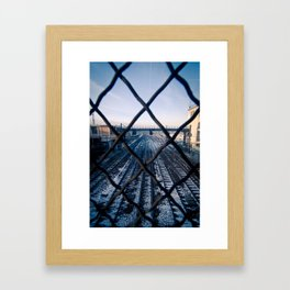 Paris Train Tracks Framed Art Print