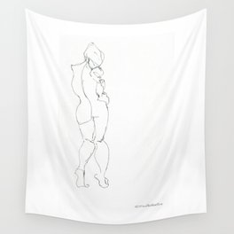 One Minute Contrapposto Gesture Drawing: Jane Wall Tapestry