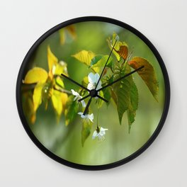 Delicate Spring Blossoms Wall Clock