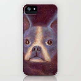 Boston Terrier Nebula iPhone Case