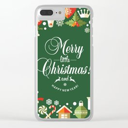 The Circle of Christmas Stuffs Clear iPhone Case