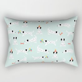 Spotted Dogs Mint Rectangular Pillow