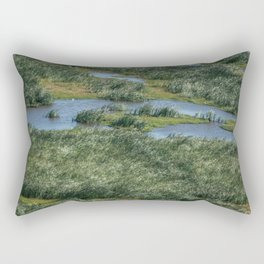 Green beautiful land Rectangular Pillow