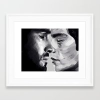 sterek Framed Art Prints featuring sterek by Finduilas