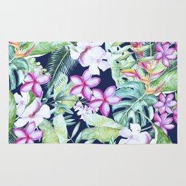 Tropical Garden Blue #society6 #buyart Rug